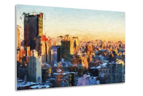 City Sunset II - In the Style of Oil Painting-Philippe Hugonnard-Metal Print