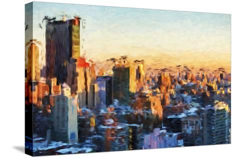 City Sunset II - In the Style of Oil Painting-Philippe Hugonnard-Stretched Canvas Print