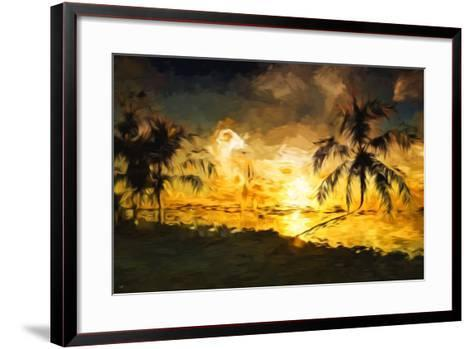 Colorful Sunset IV - In the Style of Oil Painting-Philippe Hugonnard-Framed Art Print