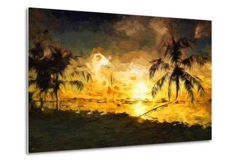 Colorful Sunset IV - In the Style of Oil Painting-Philippe Hugonnard-Metal Print