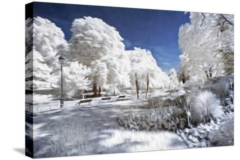 Garden in Winter - In the Style of Oil Painting-Philippe Hugonnard-Stretched Canvas Print
