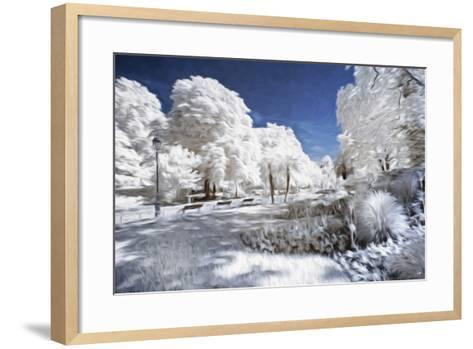 Garden in Winter - In the Style of Oil Painting-Philippe Hugonnard-Framed Art Print