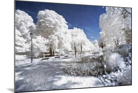 Garden in Winter - In the Style of Oil Painting-Philippe Hugonnard-Mounted Giclee Print