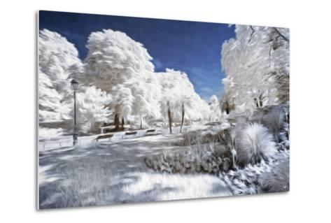 Garden in Winter - In the Style of Oil Painting-Philippe Hugonnard-Metal Print