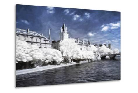 Paris Architecture - In the Style of Oil Painting-Philippe Hugonnard-Metal Print