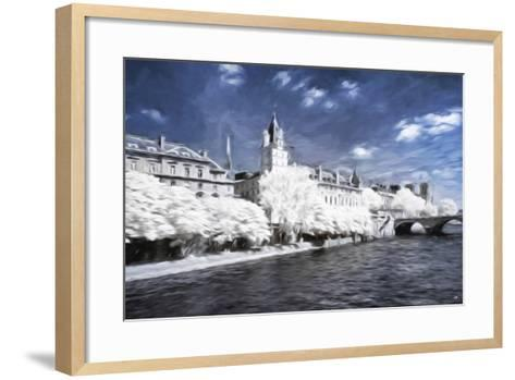 Paris Architecture - In the Style of Oil Painting-Philippe Hugonnard-Framed Art Print