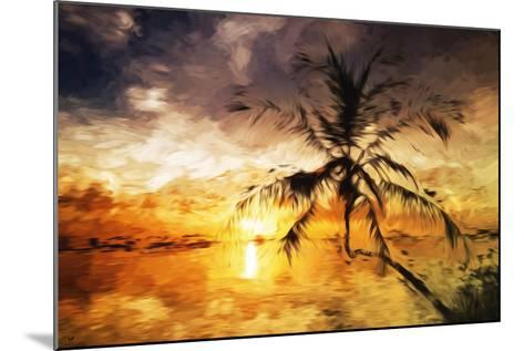 Sunset Palm III - In the Style of Oil Painting-Philippe Hugonnard-Mounted Giclee Print
