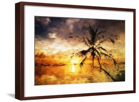 Sunset Palm III - In the Style of Oil Painting-Philippe Hugonnard-Framed Art Print