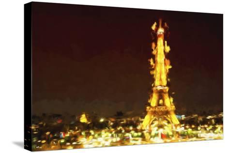 Eiffel Inspiration II - In the Style of Oil Painting-Philippe Hugonnard-Stretched Canvas Print