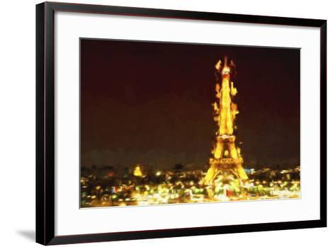 Eiffel Inspiration II - In the Style of Oil Painting-Philippe Hugonnard-Framed Art Print