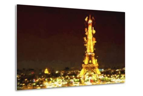 Eiffel Inspiration II - In the Style of Oil Painting-Philippe Hugonnard-Metal Print