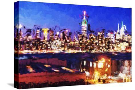 NY City Night IV - In the Style of Oil Painting-Philippe Hugonnard-Stretched Canvas Print