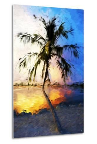 Sunset Palm V - In the Style of Oil Painting-Philippe Hugonnard-Metal Print