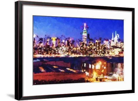 NY City Night IV - In the Style of Oil Painting-Philippe Hugonnard-Framed Art Print