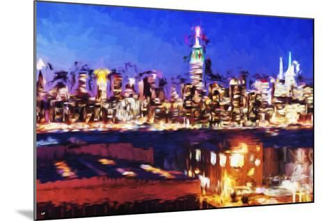 NY City Night IV - In the Style of Oil Painting-Philippe Hugonnard-Mounted Giclee Print