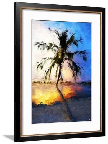 Sunset Palm V - In the Style of Oil Painting-Philippe Hugonnard-Framed Art Print