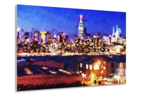 NY City Night IV - In the Style of Oil Painting-Philippe Hugonnard-Metal Print