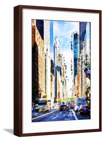Urban Scene VI - In the Style of Oil Painting-Philippe Hugonnard-Framed Art Print