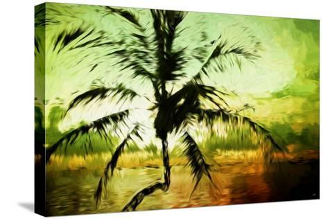 Tropical Sunset III - In the Style of Oil Painting-Philippe Hugonnard-Stretched Canvas Print