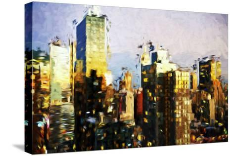Midtown Manhattan II - In the Style of Oil Painting-Philippe Hugonnard-Stretched Canvas Print