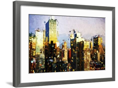 Midtown Manhattan II - In the Style of Oil Painting-Philippe Hugonnard-Framed Art Print