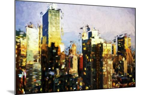 Midtown Manhattan II - In the Style of Oil Painting-Philippe Hugonnard-Mounted Giclee Print