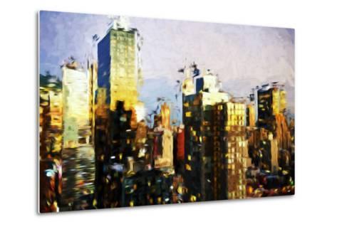 Midtown Manhattan II - In the Style of Oil Painting-Philippe Hugonnard-Metal Print