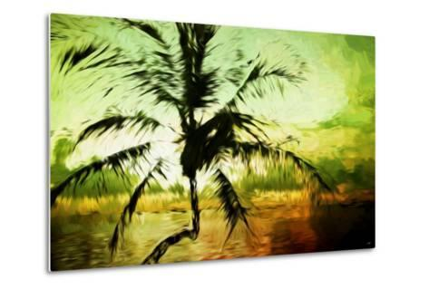 Tropical Sunset III - In the Style of Oil Painting-Philippe Hugonnard-Metal Print
