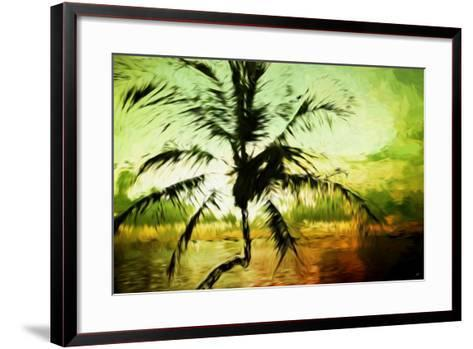 Tropical Sunset III - In the Style of Oil Painting-Philippe Hugonnard-Framed Art Print