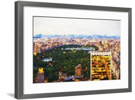Central Park Scape - In the Style of Oil Painting-Philippe Hugonnard-Framed Art Print