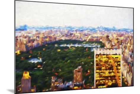 Central Park Scape - In the Style of Oil Painting-Philippe Hugonnard-Mounted Giclee Print