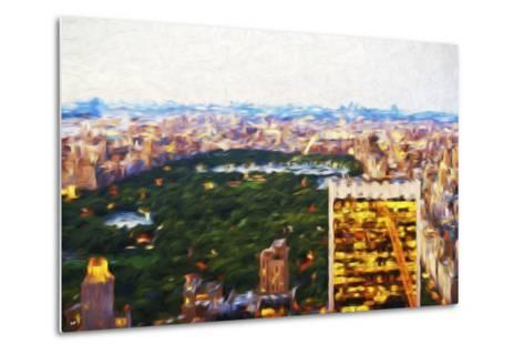 Central Park Scape - In the Style of Oil Painting-Philippe Hugonnard-Metal Print