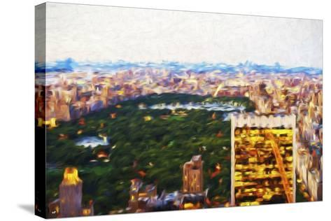 Central Park Scape - In the Style of Oil Painting-Philippe Hugonnard-Stretched Canvas Print