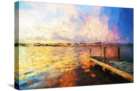 Mysterious Sunset - In the Style of Oil Painting-Philippe Hugonnard-Stretched Canvas Print