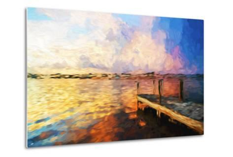 Mysterious Sunset - In the Style of Oil Painting-Philippe Hugonnard-Metal Print