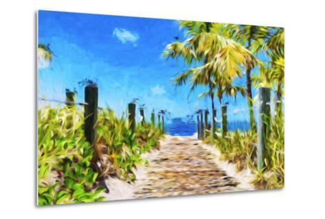 Path to the Beach - In the Style of Oil Painting-Philippe Hugonnard-Metal Print