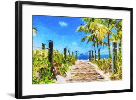 Path to the Beach - In the Style of Oil Painting-Philippe Hugonnard-Framed Art Print