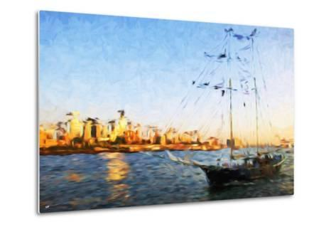 Sunset Yacht II - In the Style of Oil Painting-Philippe Hugonnard-Metal Print