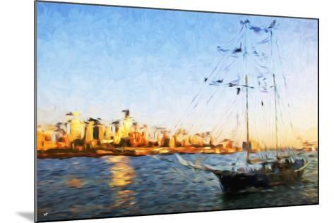 Sunset Yacht II - In the Style of Oil Painting-Philippe Hugonnard-Mounted Giclee Print