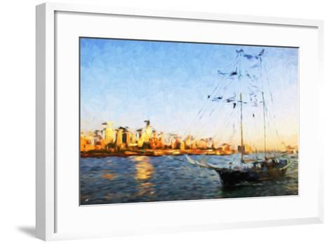 Sunset Yacht II - In the Style of Oil Painting-Philippe Hugonnard-Framed Art Print