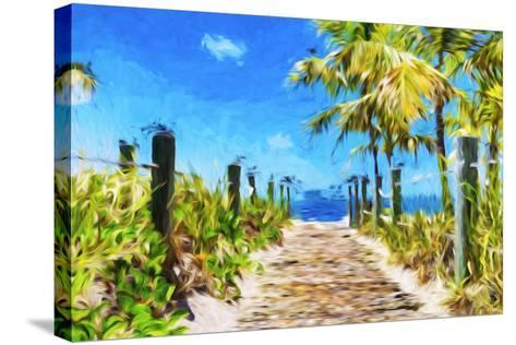 Path to the Beach - In the Style of Oil Painting-Philippe Hugonnard-Stretched Canvas Print