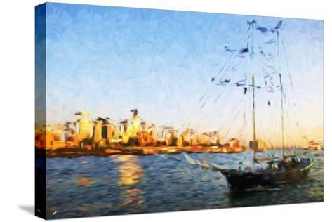 Sunset Yacht II - In the Style of Oil Painting-Philippe Hugonnard-Stretched Canvas Print
