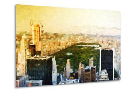 Central Park Skyline II - In the Style of Oil Painting-Philippe Hugonnard-Metal Print