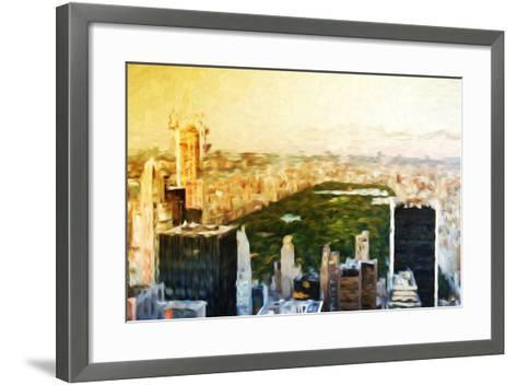 Central Park Skyline II - In the Style of Oil Painting-Philippe Hugonnard-Framed Art Print