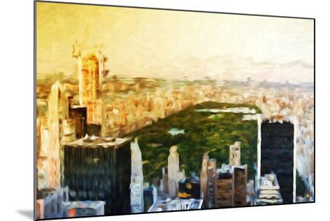 Central Park Skyline II - In the Style of Oil Painting-Philippe Hugonnard-Mounted Giclee Print