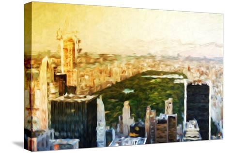 Central Park Skyline II - In the Style of Oil Painting-Philippe Hugonnard-Stretched Canvas Print