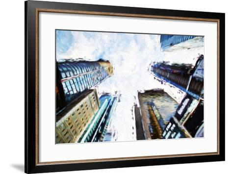 Times Square Buildings II - In the Style of Oil Painting-Philippe Hugonnard-Framed Art Print