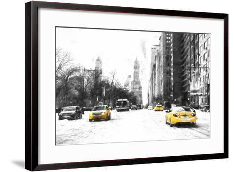 Manhattan Winter Day-Philippe Hugonnard-Framed Art Print