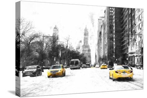 Manhattan Winter Day-Philippe Hugonnard-Stretched Canvas Print