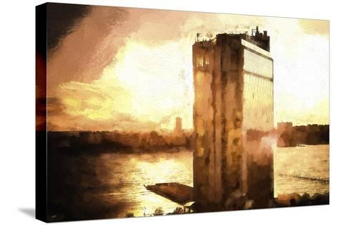 NYC Sunset-Philippe Hugonnard-Stretched Canvas Print